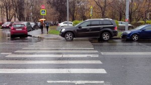 Остановка на пешеходном переходе