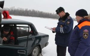 Выезд на лед на автомобиле